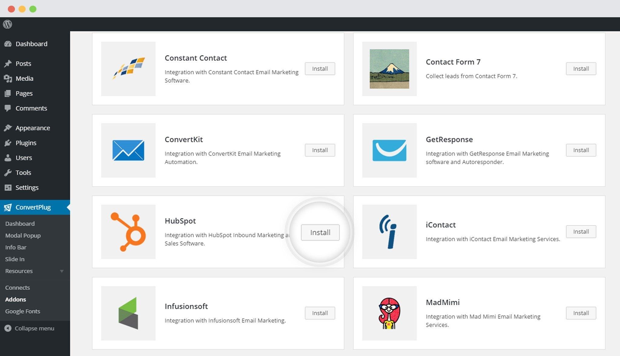 HubSpot & WordPress Popup Plugin ConvertPlug