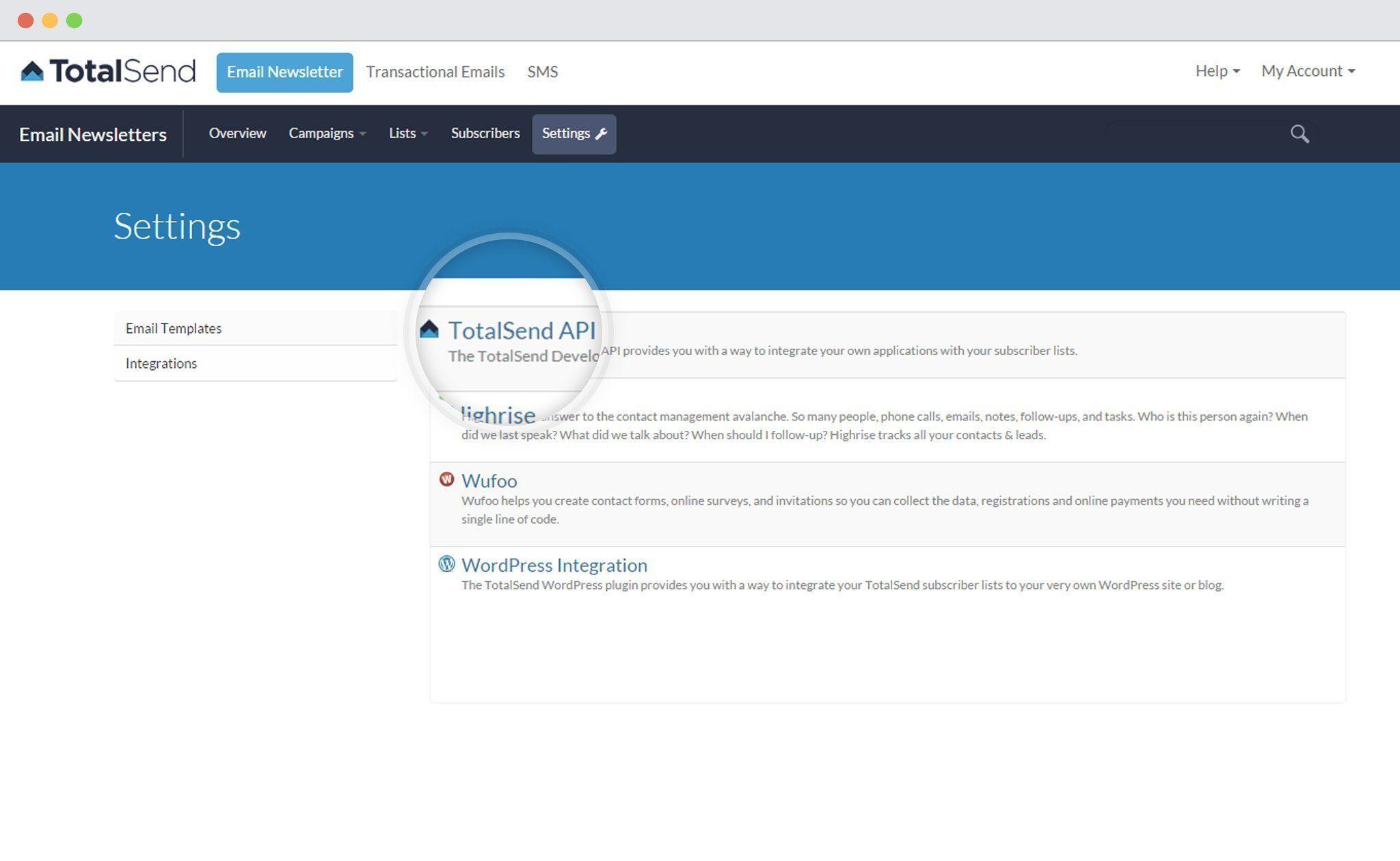 Total-send-get-api for ConvertPlus