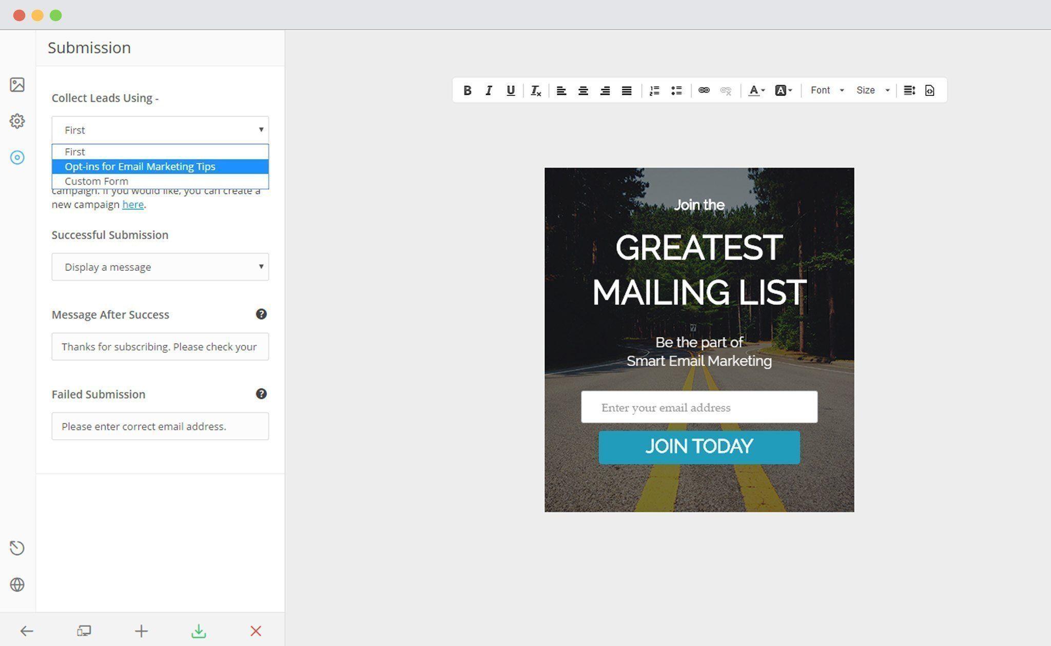 Select Campaign in ConvertPlug Editor