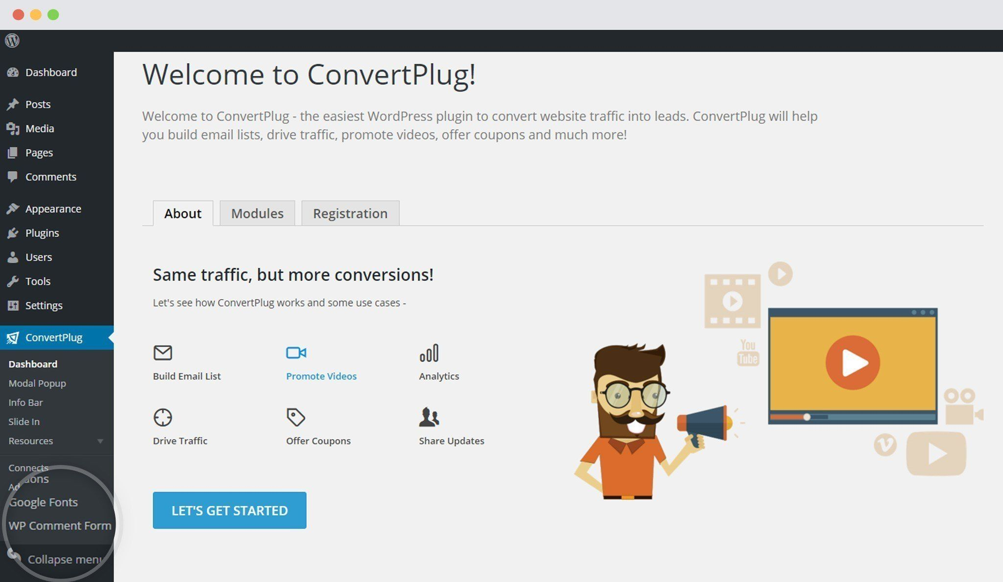 WP-Comment-Form-dashboard