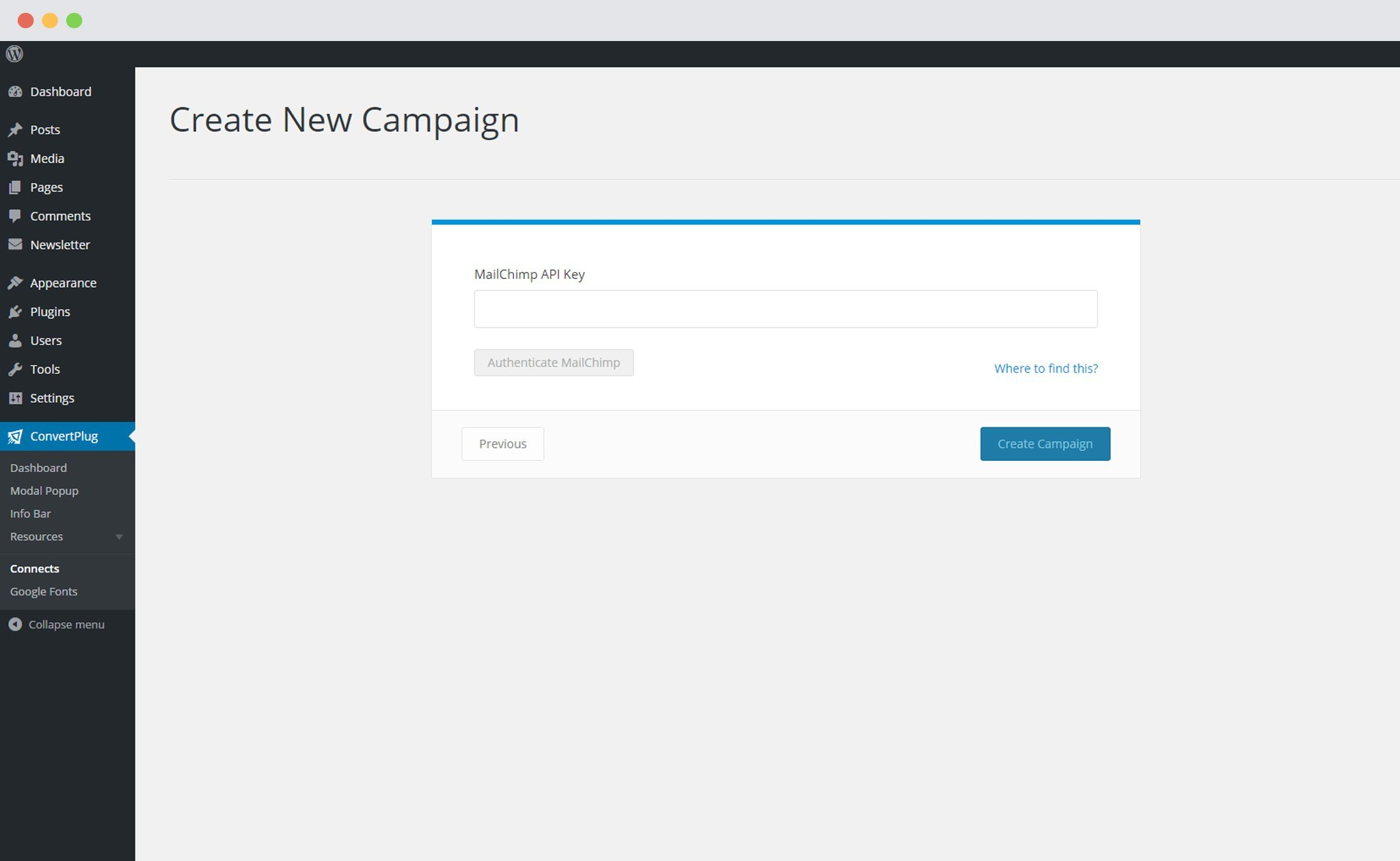 how to add mailchimp popup to wordpress