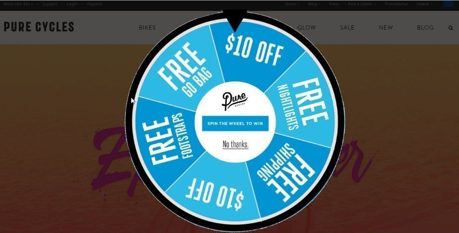 popup to display discount offers_purecycles